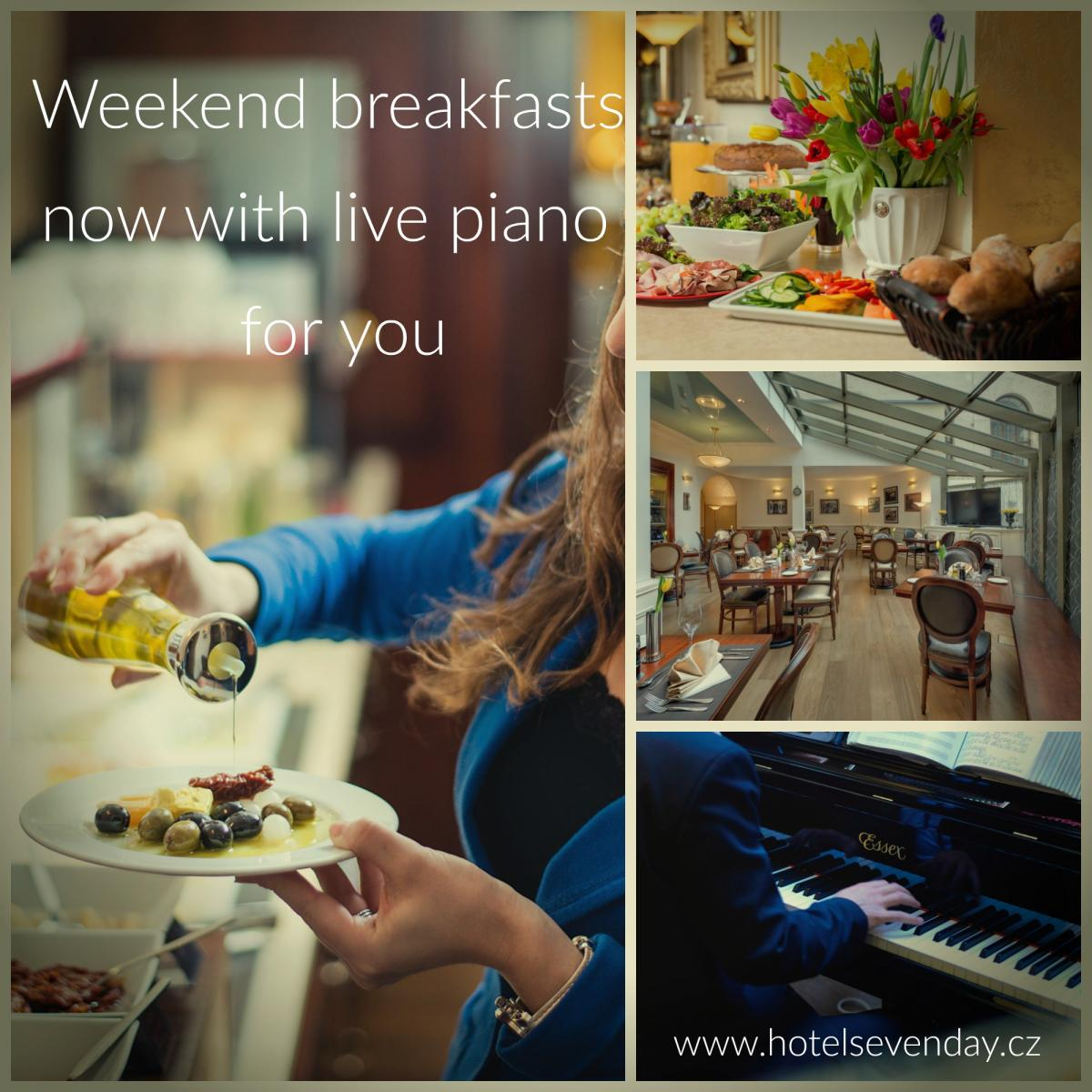 Live piano at weekend breakfasts